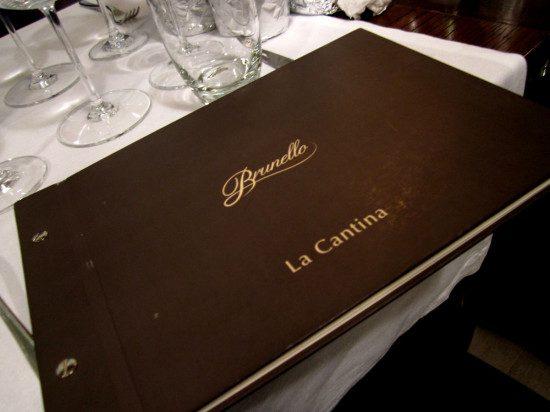 Osteria Brunello - la carta vini