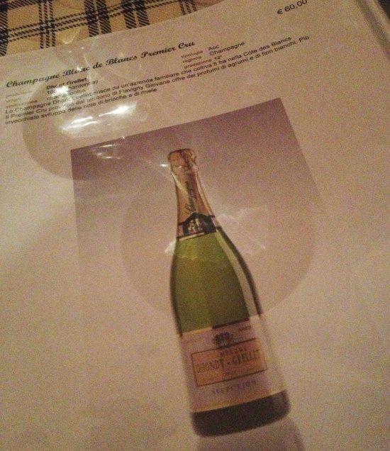 Ostriche & Vino - Carta vini