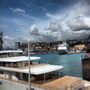 Genova vista dai Magazzini del Cotone