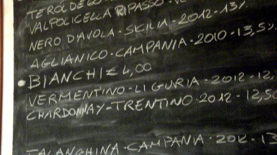 Calice di vino - lavagna