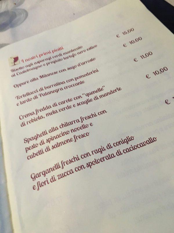 Cantina di Manuela - Via Poerio - Primi piatti