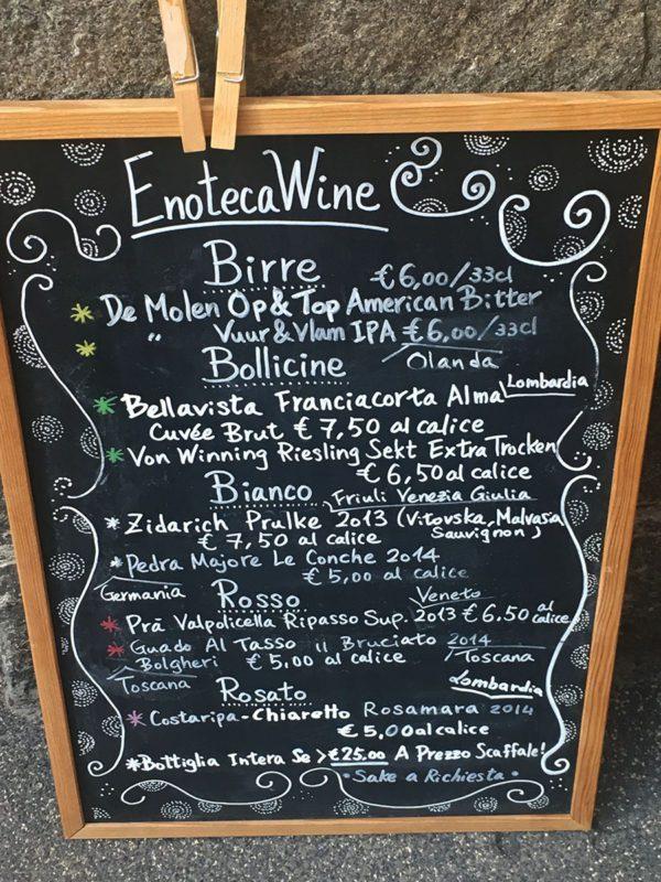 Enoteca Wine - Lavagna vini al calice